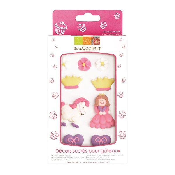 Scrapcooking Zucker Dekoration Prinzessin Set 6 Stück