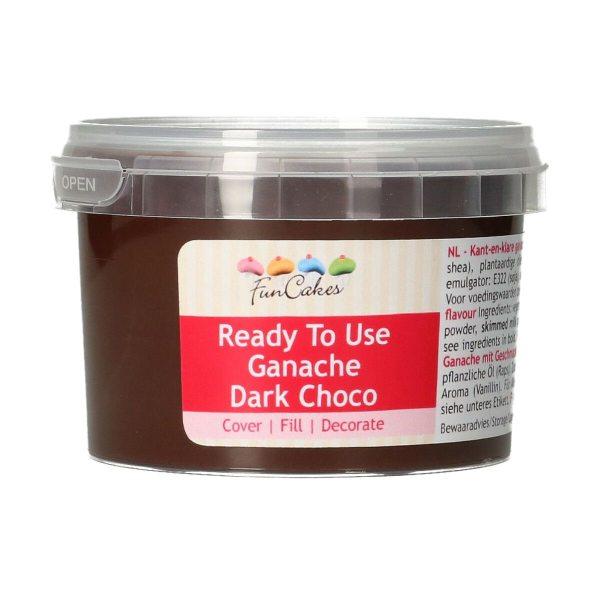 FunCakes Ready to use Ganache - Dark Chocolate - 260g