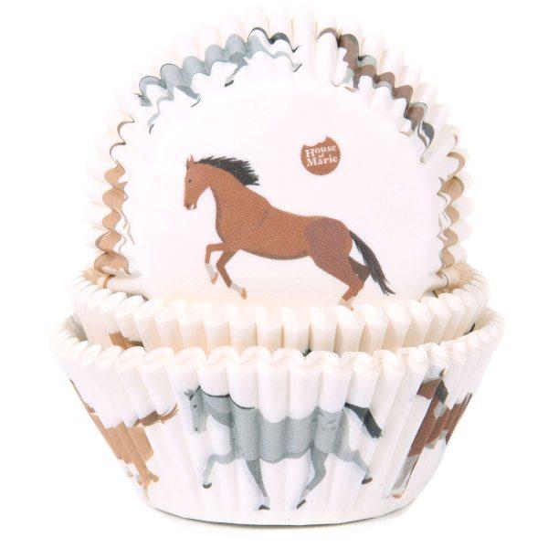 HoM Baking Muffinbackförmchen Pferde - 50 Stück