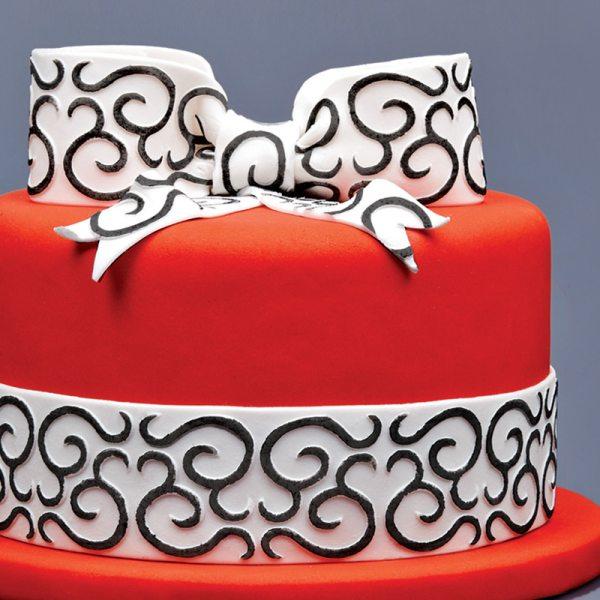 Tortenband Fondantrand Ornamente 1,25m
