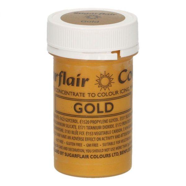Sugarflair Paste Colour Satin Gold, 25g
