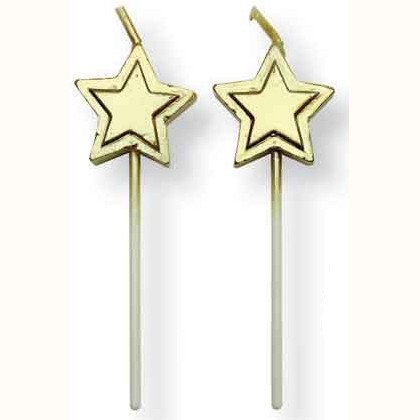 PME Kerzen Gold Stars 8/Pkg