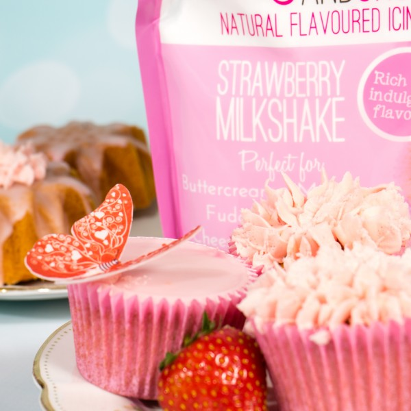 Sugar and Crumbs Icing Sugar / Buttercreme - Strawberry Milkshake - 500g