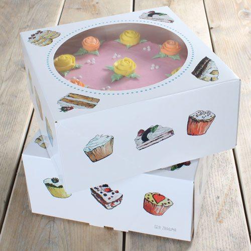 Funcakes Kuchen Box - 26x26x12cm - 2 Stück