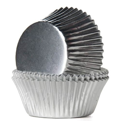 House of Marie Baking Cups Silber 24/Pkg