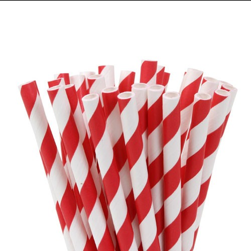HOM Lolly Pop / Pop Cake Sticks 15cm Red Stripes