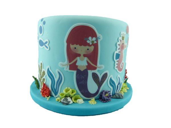Tortenaufleger Kuchen Tattoo Mermaid