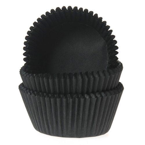 HoM Mini Muffin Backform schwarz - 60 Stück