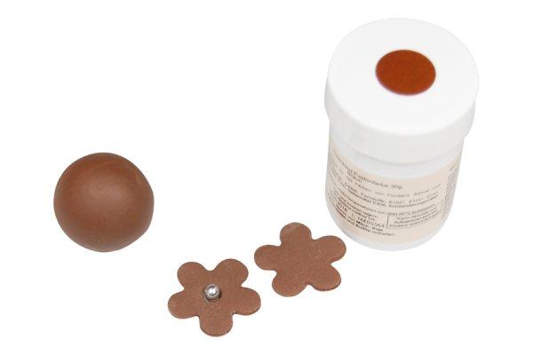 Tortenkleid Pastenfarbe Braun 30g