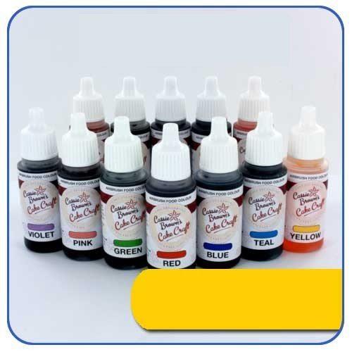 Gelbe - Airbrush Lebensmittelfarbe Cassie Brown's 17 ml