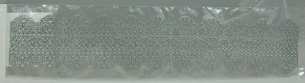 Tortenkleid Tortenspitze Silber, fertige Spitze 1 Stück, Muster Nr.2 MHD