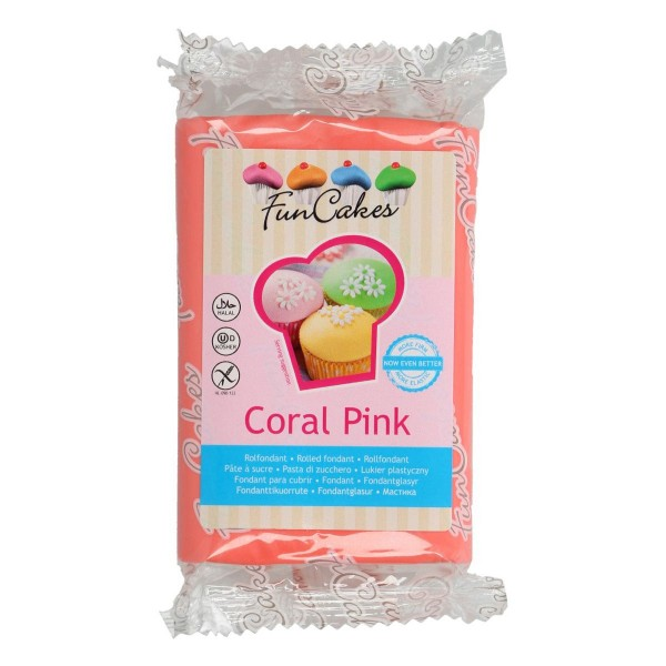Funcakes Rollfondant (Coral Pink / 250gr)