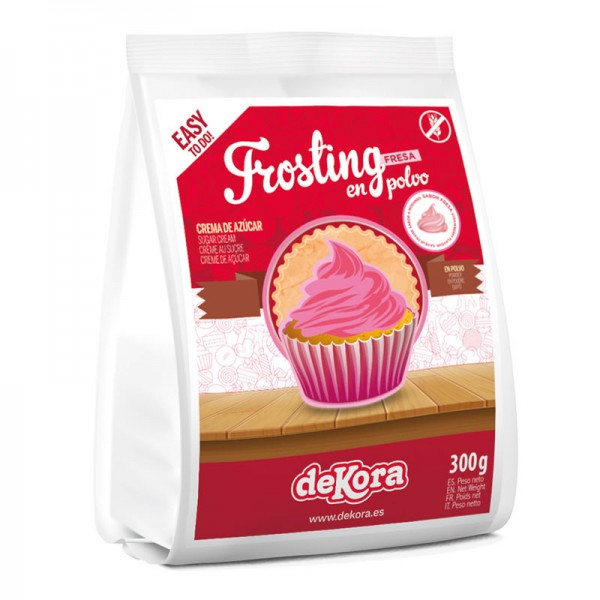 DeKora Frosting Pulver - Erdbeer - 300g