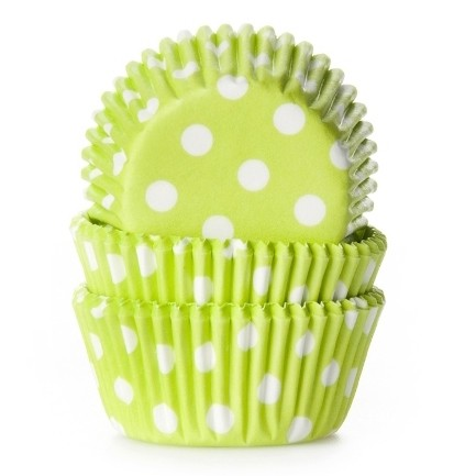 HoM Mini Muffin Backform hellgrün gepunktet - 60 Stück