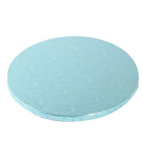 Tortenplatten rund Baby Blau 25cm / 1 Stück