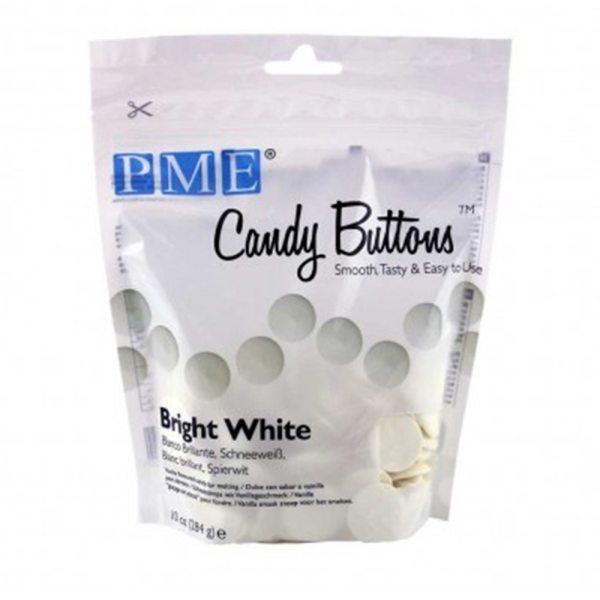 PME Candy Buttons leuchtend Weiß 340g