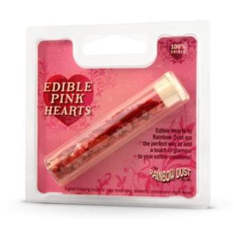 RD essbare Herzen Pink 2g