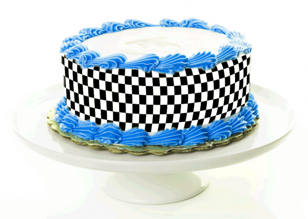 Tortenband Checkered Flag