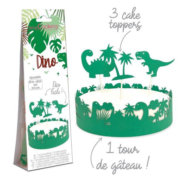 Scrapcooking Dekoration Cake Wrapper & Topper Dinosaurier