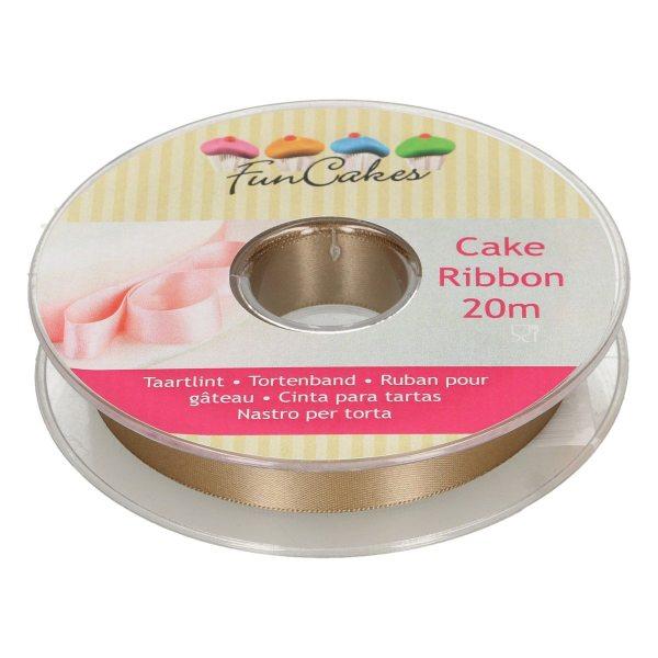 Funcakes Tortenband gold 15mm x 20m