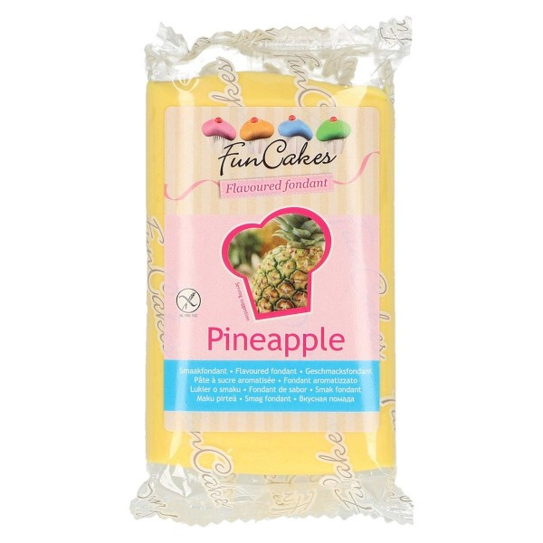 Funcakes Rollfondant (Ananas / 250gr)