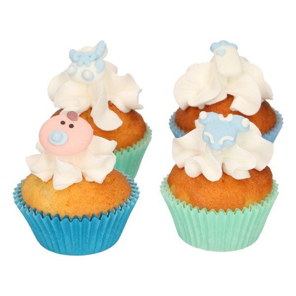 Funcakes Zucker Dekoration Baby blau 8 Stück