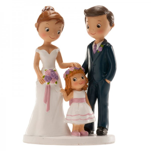 """Brautpaar """"mit Tochter"""" 16cm"""