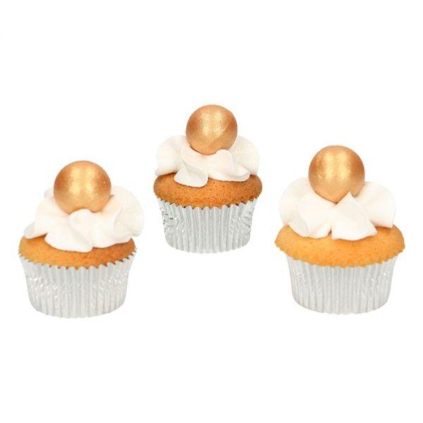 Funcakes Schokokugeln Pearl Gold 8 Stück