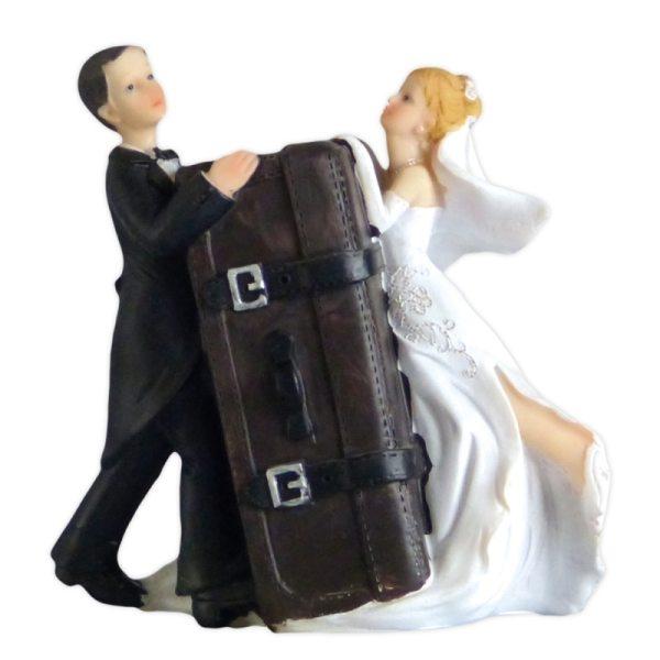 """Brautpaar """"Brautpaar mit Koffer/Spardose"""""""