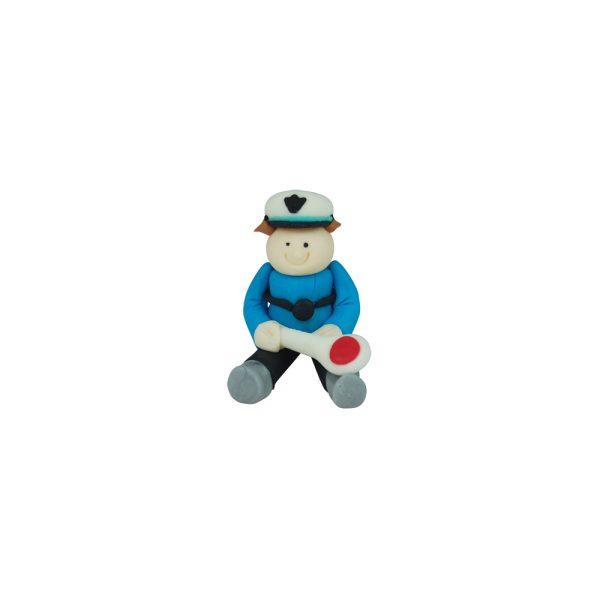 3D Zucker Figur Polizist 1 Stück