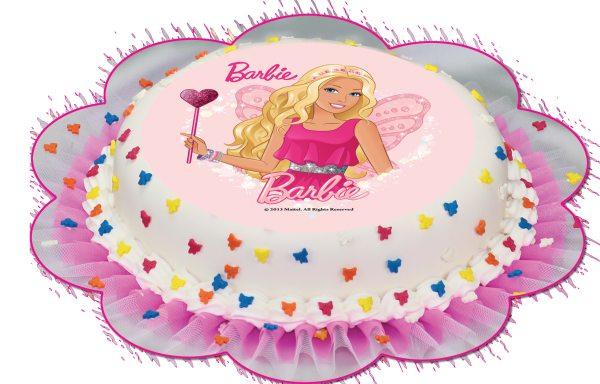 Tortenaufleger Barbie rund 16cm