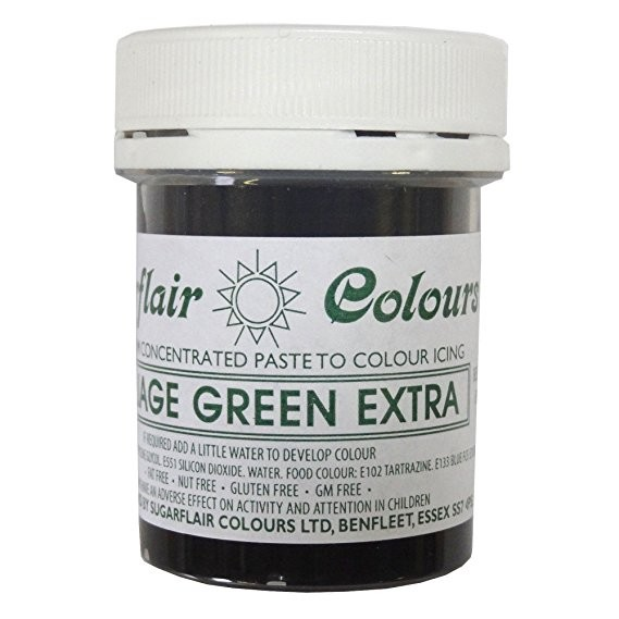 Sugarflair Paste Colour Foliage Green Extra, 42g