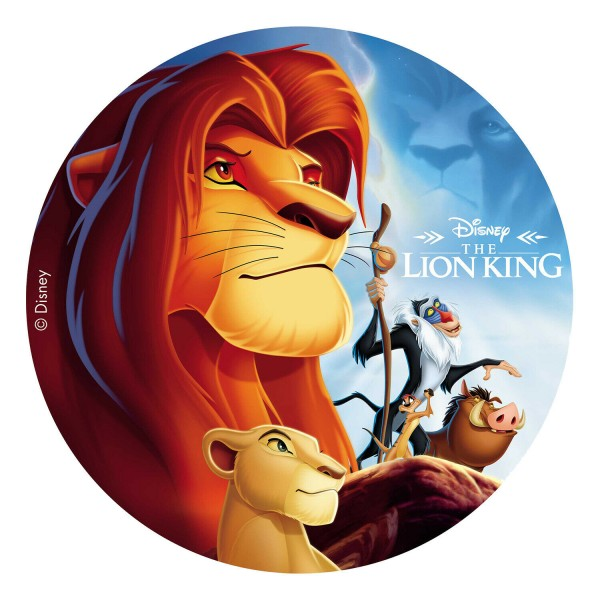 König der Löwen - Tortenaufleger zuckerfrei- 20cm
