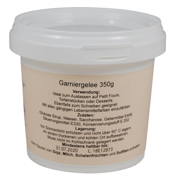 Tortenkleid Piping Gel / Garniergelee 350g