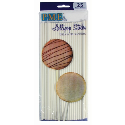 PME Lollipop Sticks 20 cm / 25 Stück