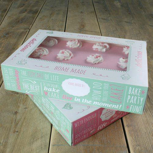 Funcakes Kuchen Box - 36x25x8 cm - 2 Stück