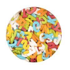 Städter Dekorzucker Buchstaben Mix A-Z bunt 50g