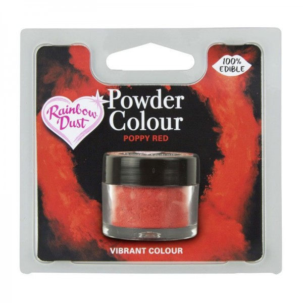 Rainbow Dust / Puderfarbe Poppy Red 2 Gramm