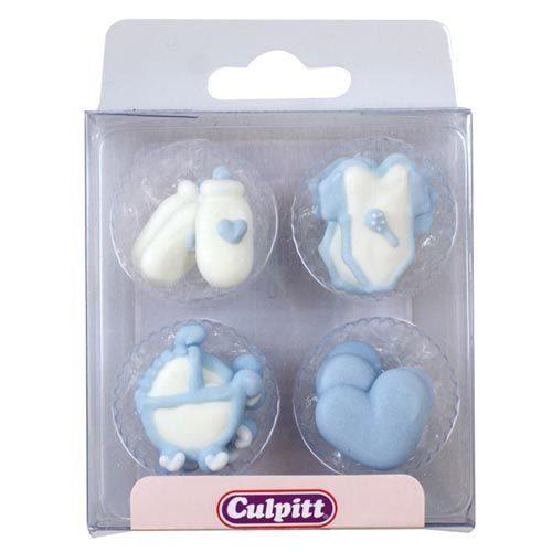 Culpitt Zucker Dekoration Baby blau 12 Stück