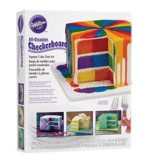 Wilton Checkerboard quadratisch Cake Set