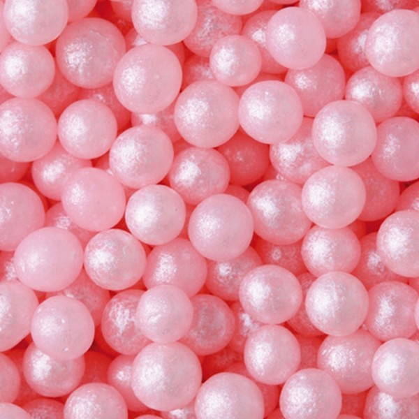 Zuckerperlen 4mm rosa 500g