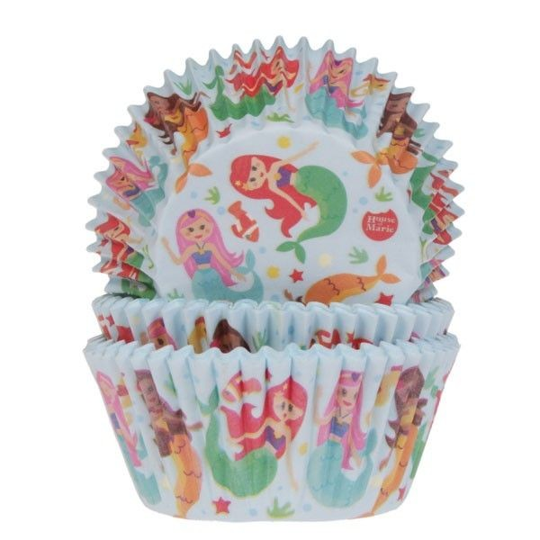 House of Marie Baking Cups Meerjungfrau 50/Pkg