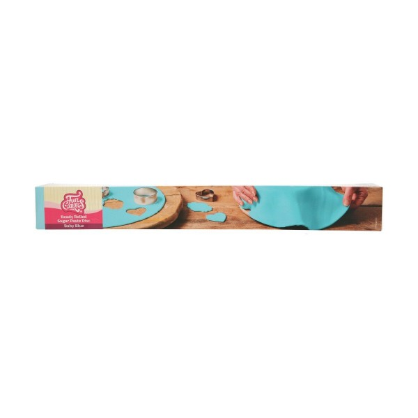 Funcakes Ausgerollte Fondantdecke, Baby Blau- 36cm Ø
