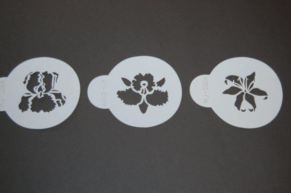 """Tortenkleid """"Dekoration"""" Designer Stencils - exotische Blumen"""