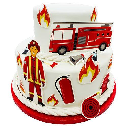 Tortenaufleger Kuchen Tattoo Feuerwehr 2