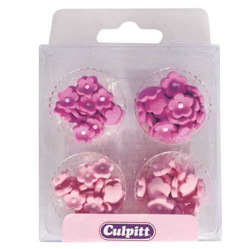 Culpitt Zucker Dekoration Mini Blumen rosa 100 Stück/PKG