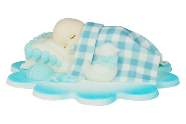Cake Topper Baby schlafend Blau
