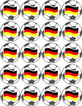 Fußball Oblaten 5cm Deutschland