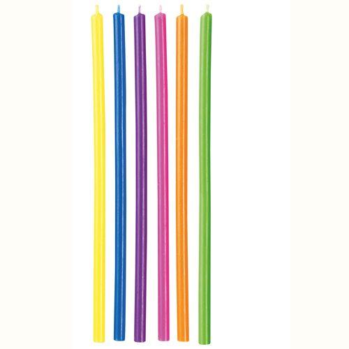 Wilton Kerzen Long Multicolor 12 Stück