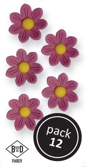 PME Gänseblümchen aus Zucker  ca 2 cm - Lila - 12 Stück